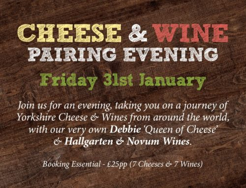 Cheese & Wine Pairing Evening